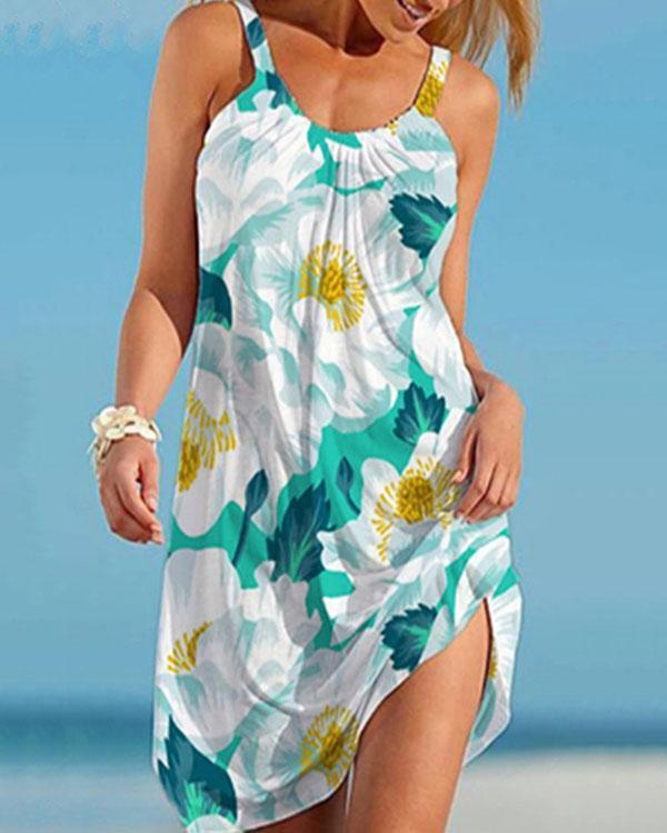 Hot Sale Cute Print Holiday Mini Dresses