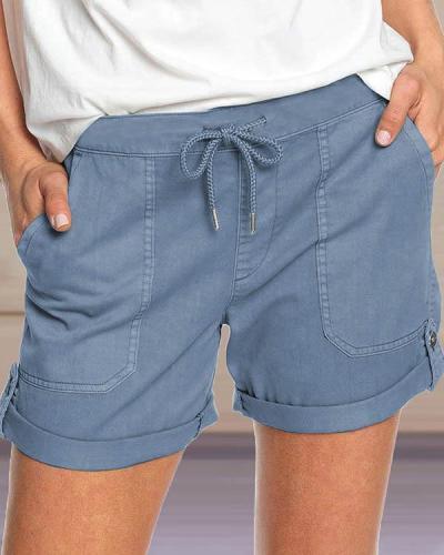 Hot Sale Casual Straight Mid Waist Shorts