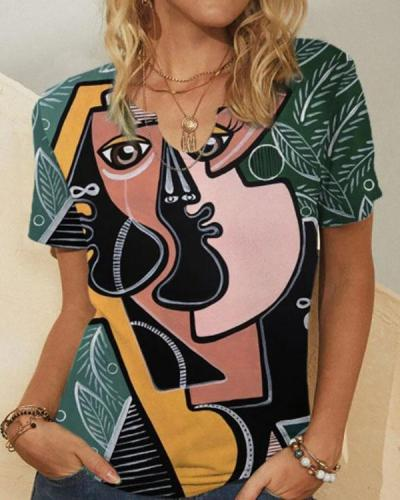 Women's Vintage Printed Summer Tops