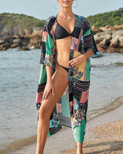 Women Print Beach Cover Up