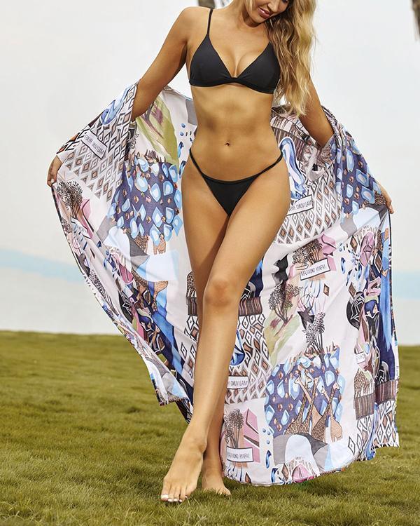 Women Print Beach Cover Up