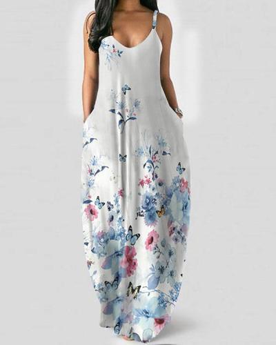 Womens Maxi Dresses Casual Sleeveless Long Dresses
