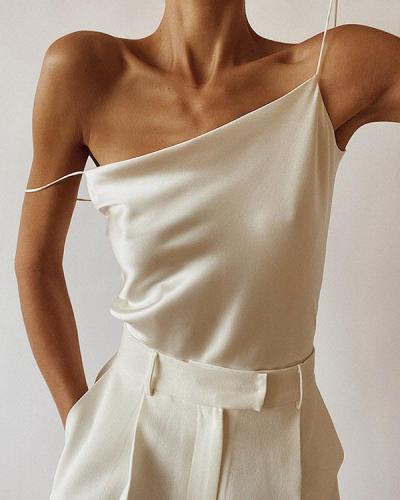 Sexy Spaghetti Strap Satin Camis&Vests
