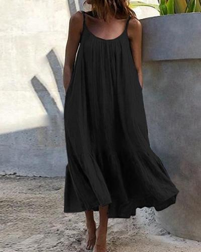 Bohemian Women Sleeveless Summer Vacation Dress