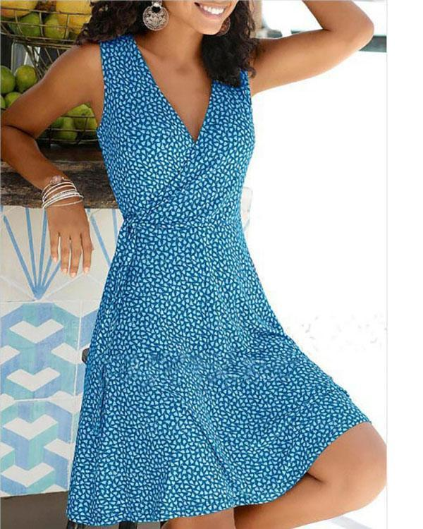 Polka Dot Pullover Women's Dress Short Sleeve A-line Dresses