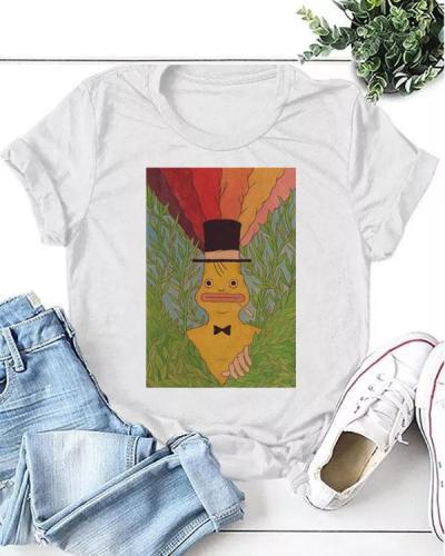 Women Funny Print Daily T-shirt