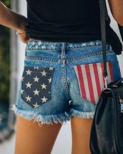 Women's American Flag Pocket Shorts