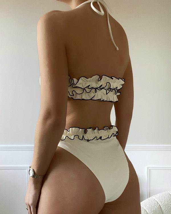 Sexy Macrame Split Bikini Swimsuit