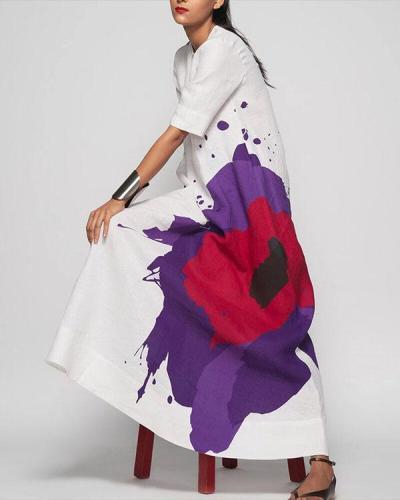Women Easy Shape Of Printed Maxi Dress