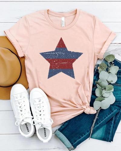 Casual 4th Of July Tees USA T-shirt