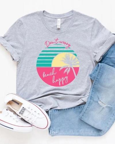 Casual Print Tees T-shirt