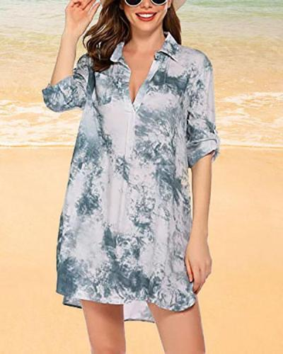 Women's Swimsuit Beach Cover Up Shirt-Bikini Beachwear Bathing Suit Beach Dress