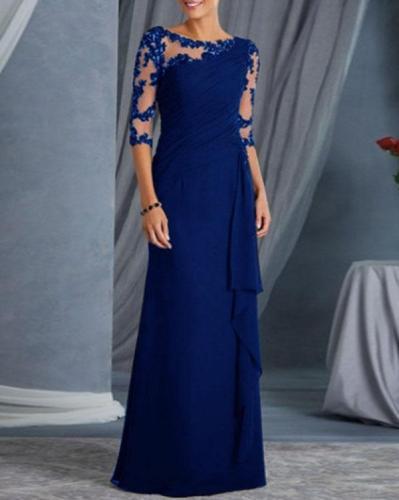 Women's Solid Color Elegant Prom Dress