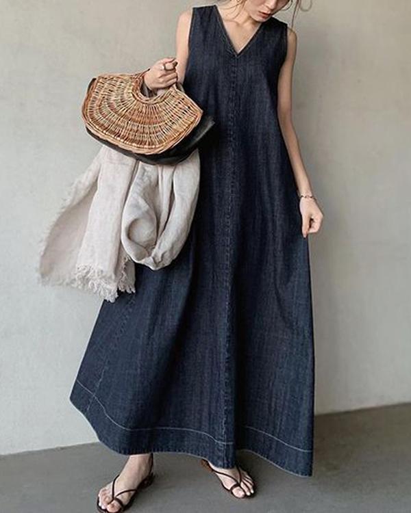Summer Frill Ladies Fashion Plain Casual Long Skirt