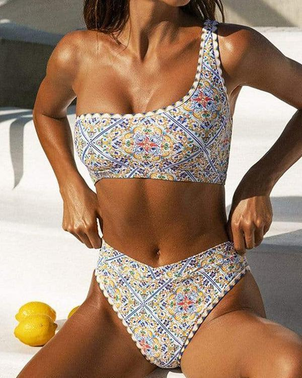 Floral Boho Bikinis Swimsuits