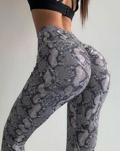 Leisure Leopard Print Fitness Yoga Leggings