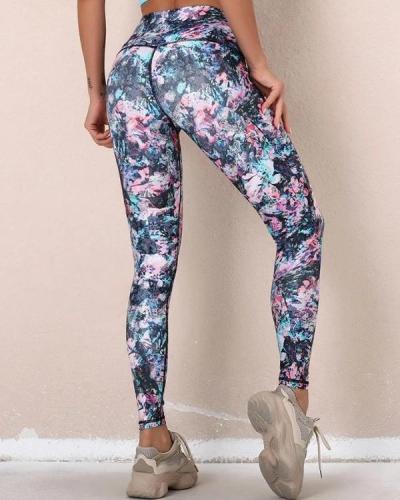 Digital Print Skinny Sport Yoga Leggings Pants