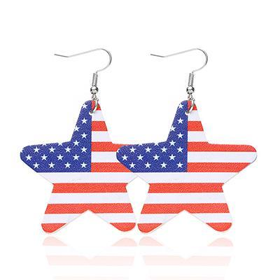 Casual Five-pointed Star No Stone Dangle Earrings