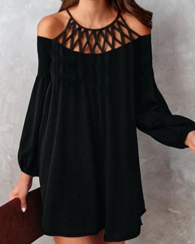 Elegant Mini Dress Long Sleeve Casual Party Dress