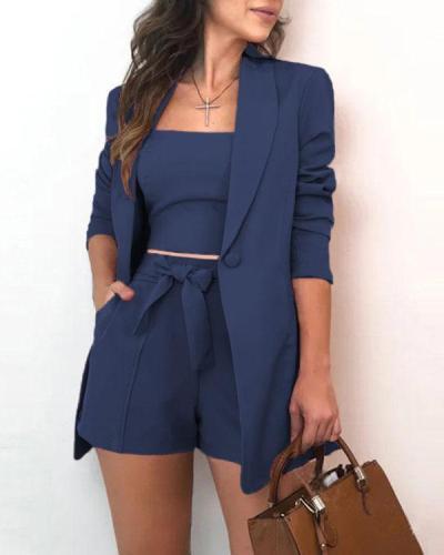 Fashion Commuter Three-piece Suit