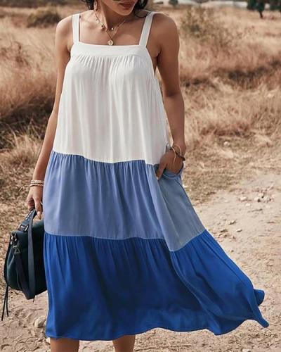 Women's Sling Dress New Spring and Summer Big Swing Skirt