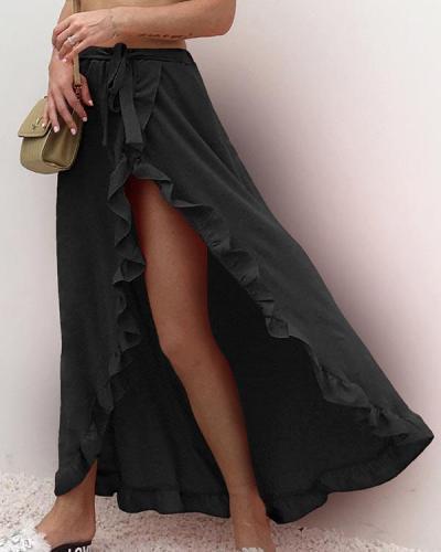 Sexy Ruffled Lace High Waist Skirt
