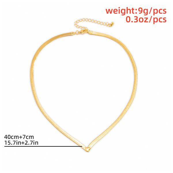 Ins Temperament Metal V-shaped Necklace