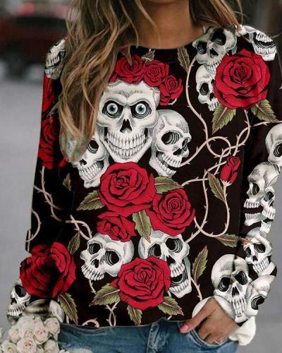 12 Colors Halloween Women's Print Sweatshirt