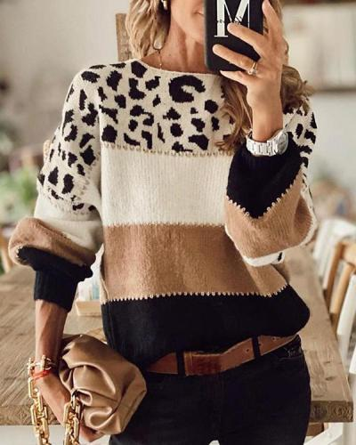 Spirit Animal Colorblock Sweater
