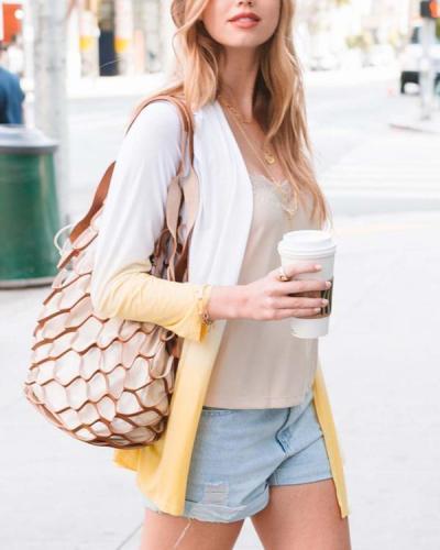 Gradient Color Long Sleeve Fashion Cardigan Coat