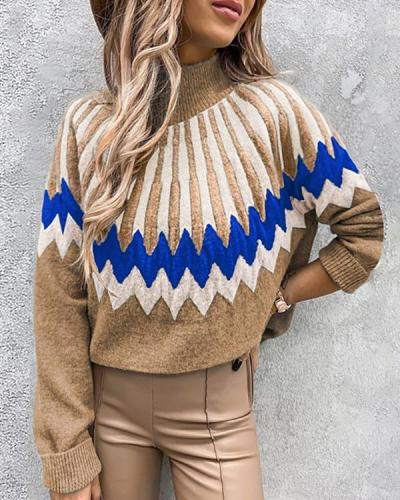 Highneck Long Sleeve Icelandic Sweater