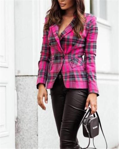 Plaid suit urban jacket