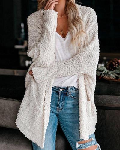 Pocket Long Sleeve Women's Sweater