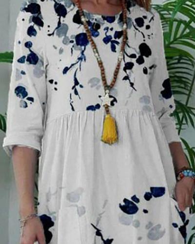 Loose Pullover White Midi Dress