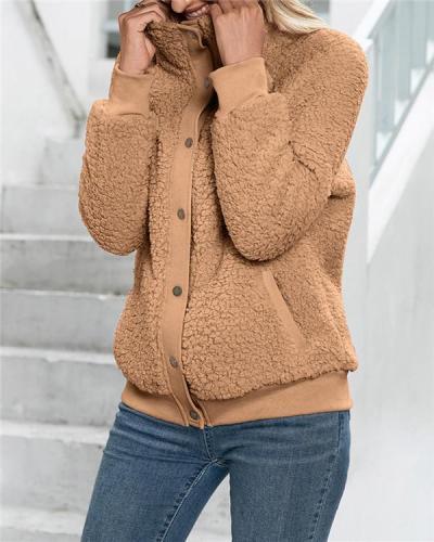 Cardigan coat double-sided plush down coat top