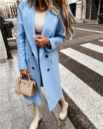 Long-sleeved Blazer Double-breasted Coat