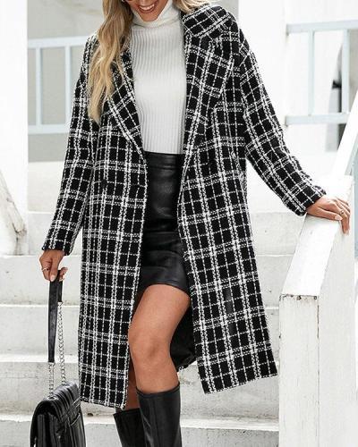 Slim Button Winter Women's Overcoat