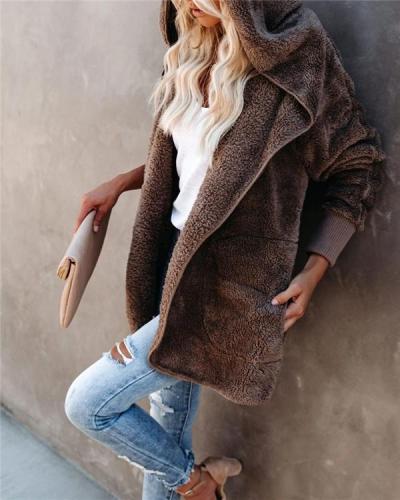 Fashion Plush Autumn and Winter Warm Jacket
