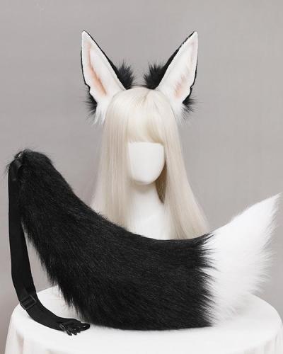 Anubis Jackal Ears Tail Headband Cosplay Suit