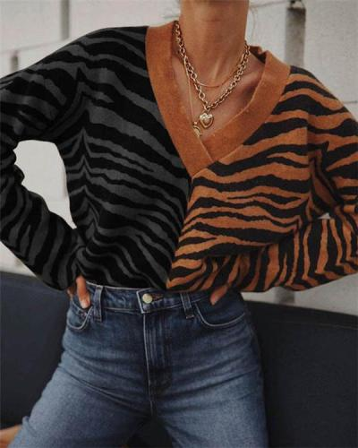 Fashion Leopard Knitted Sweater