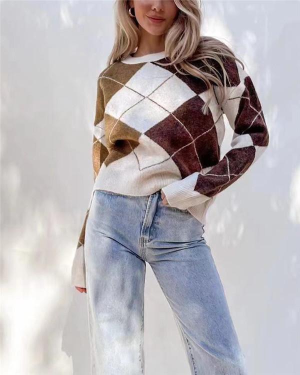 Diamond Round Neck Sweater