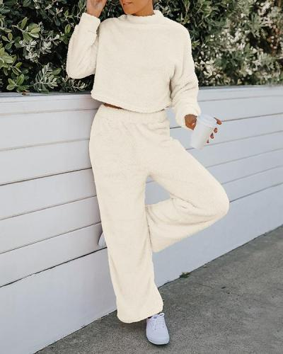 Solid Casual & Two-Piece Outfits Set