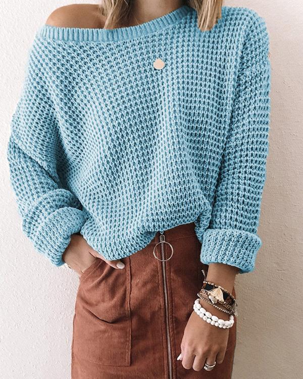 Women Loose Hollow Sweater