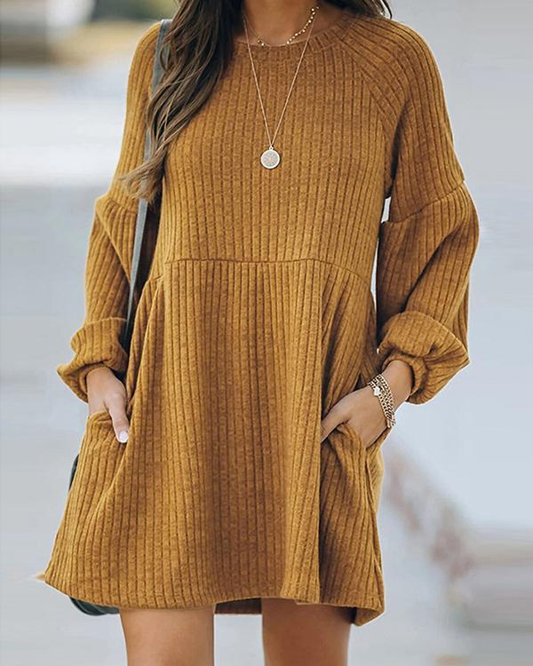 Knitted Long Sleeve Dress