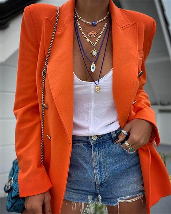 Solid Color Long-sleeved Small Blazer