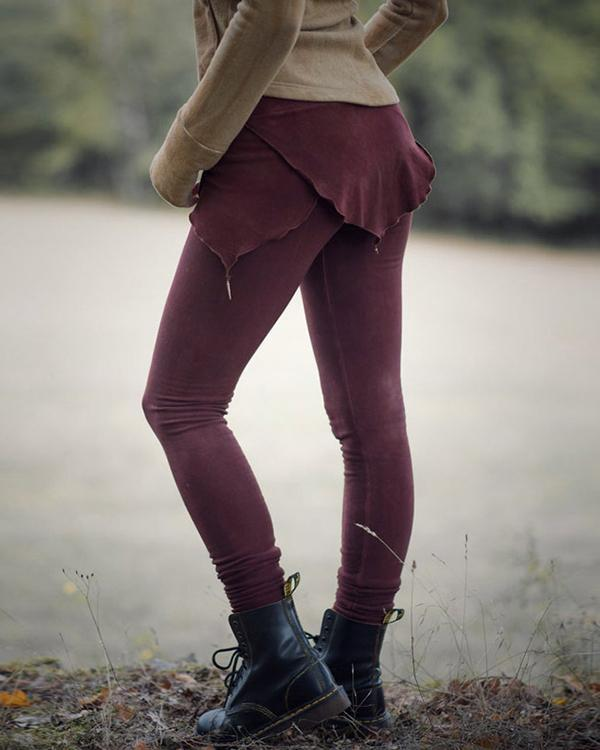 Vintage Dyed Casual High-waisted Leggings