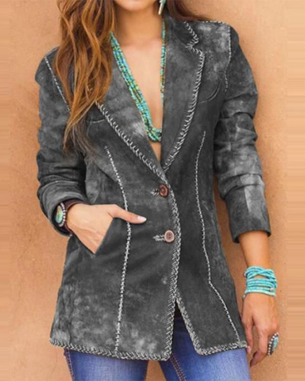 Long-sleeved Short Suit Jacket