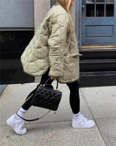 Single-breasted Fashion Casual Padded Jacket