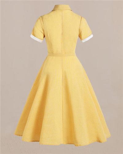 Vintage British Shirt Collar Dress