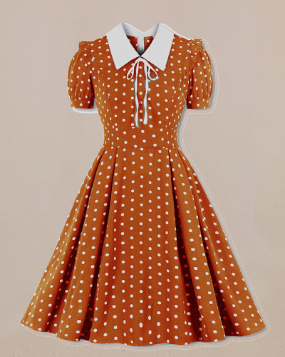 Polka Dot Print Vintage Dress